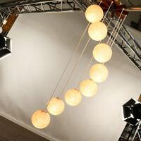 XXL 8fach Kaskaden Pendel Leuchte Teak & Granulat Kugel Hänge Lampe Vintage 60er