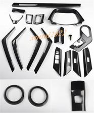 20PCS ABS Carbon Fiber Car Interior Kit Cover Trim Fit For Toyota RAV4 2013-2018
