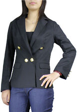 ChicStar gold-Button Military Blazer fitted Jacket sizes 4/6 (blk) 12/14 (navy)