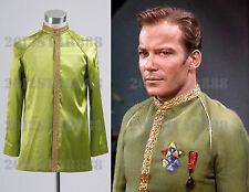Halloween Star Trek Jame Kirk Green Satin Jacket Costume Cosplay [Custom Made]