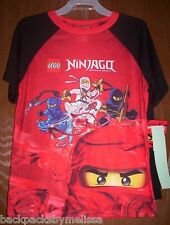 Lego NINJAGO Pajamas Boys 10/12 NeW Shirt Shorts Pjs set Kai Zane Cole Jay Legos