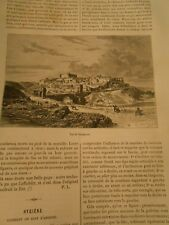 Vue de Saragosse Espagne Spain Gravure Print 1884