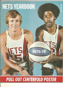 1975 -76 New York Nets yearbook, Julius Erving front cover