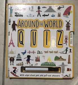 Around The World Quiz Children's Book New With Wipe Clean Pen