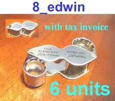 6 Units of 10x AND 20x Jeweler's Loupe Dual lenses, Local Fast Shipping !