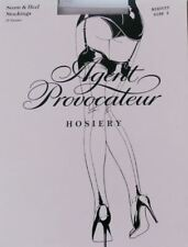 AGENT PROVOCATEUR SEAM & HEEL STOCKINGS BISCUIT SIZE SMALL / 1 / A BNWT
