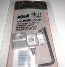 WEAVER 406S GUN SCOPE TOP MOUNT BASE THOMPSON CENTR FIREHAWK MARLIN MLS54 SILVER