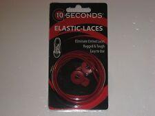 """Ten Seconds Elastic Stretch Shoelaces Shoe Laces Lock Lace Red  36"""" Unisex"""