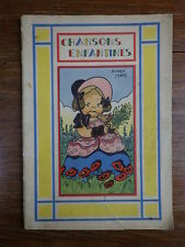 CHANSONS ENFANTINES ill. BEATRICE MALLET & LE RALLIC Ed SIREC LIEGE CHAGOR