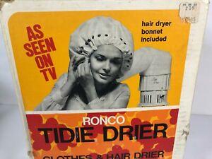 Vintage 70s Deluxe Hair Dryer Soft Bonnet Complete Dead Stock Retro Ronco
