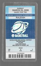 DAVIDSON v GEORGETOWN - March 23 2008 Ticket Stub Steph Curry Rnd 2 NCAA Tourney