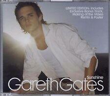 GARETH GATES - SUNSHINE / GET TO KNOW ME BETTER 2003 EU ENHANCED CD SINGLE