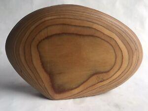 Incredible Dick Shanley Laminated MCM Modernist Wood Vase / Weedpot Vessel