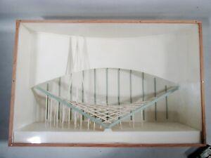 Midcentury Architectural Building desktop Model Parabolic Roof Parabola in Box