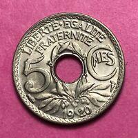 #495 - 5 centimes 1920 GM SPL FACTURE