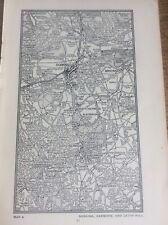 Dorking Redmore Leith Hill Surrey c1920 Map London South of the Thames 7x4�