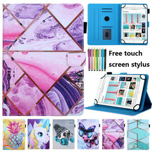 Marble Magnetic Smart Case Leather Stand Cover For Universal 10-inch tablet