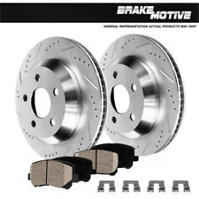 Rear Drill Slot Brake Rotors And Ceramic Pads For GS300 GS350 GS430 IS250 IS350