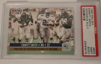 1990 Pro Set R.O.Y. Emmitt Smith 🏈ROOKIE RC #800 PSA 9 🏈 @ BIG BOX MART