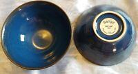 "Sango  Orbit-Blue  4805 Cereal Bowls  Set of 2   6.5 """