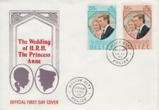 Belize - 1973 Princess Anne's Royal Wedding Set First Day Cover - Belize City