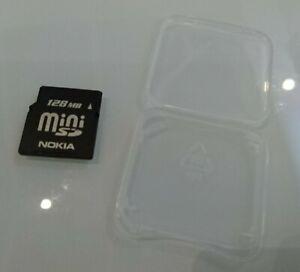 NOKIA 128MB MINI SD MEMORY CARD N93,N92,N810,N80,N73,6280,6270,6282,6708,E62,N71