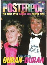 DURAN DURAN PosterPop #1 UK poster-magazine opens into 47x33 inch poster