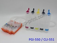 5color 550 551 Continuous Ink system CISS IP7250 7150 MG5400 5650 6450 MX925 725