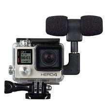 Side Open Skeleton Housing Case & Microphone & Adapter For GoPro Hero 4 3+ 3