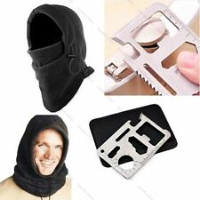 HOT SALE Camping Hiking Hat Survival Kit Knife Card Winter Ski Mask Beanie Hats