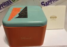 FOSSIL Watch Empty Collectible Tin Box. Baby Blue  NEW!