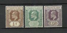 Mint Hinged Edward VII (1902-1910) Leeward Islands Stamps
