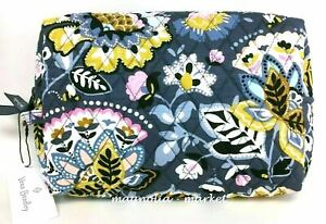 Vera Bradley LARGE COSMETIC CHARMONT MEADOW Case Travel Bag