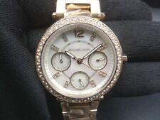 New Old Stock-MICHAEL KORS PARKER MK5616 -Mother of Pearl Dial Quartz Lady Watch