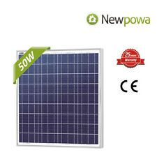 NewPowa High efficiency 50W 12V Poly Solar Panel Module 50 Watt RV BOAT OFF GRID