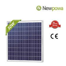 Newpowa hohe Effizienz 50W 12V Poly Solar Panel Modul 50 Watt RV Boat Off Grid