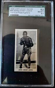 1938 Cartledge Razor Famous Prize Fighters #48 John Henry LEWIS SGC 8.5 NM-MT+