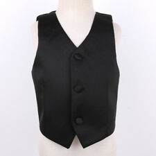 Kid Boys Gentleman Formal Suit Tuxedo Wedding Party Vest Waistcoat Dress Clothes