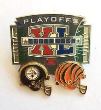 Pittsburgh Steelers vs Cincinnati Bengals LE Super Bowl XL Playoff Pin