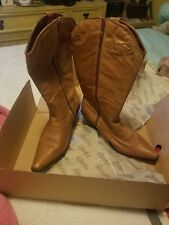 Leather Western Silhouette Ladies Boots