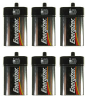Lot of 6 ENERGIZER 6 Volts Lantern Alkaline Battery, Spring Terminal Type No.529