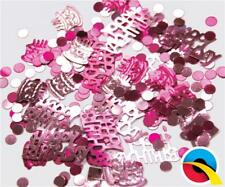 Pink Happy Birthday Metallic Table Confetti Sprinkles- 12g bag