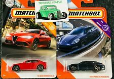Matchbox - Lot of 2 - ALFA ROMEO / PORSCHE - GIULIA / PANAMERA - 2020 - B70