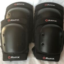Razor Deluxe Youth Multi-Sport Elbow & Knee Pad Safety Pro Set, Black | 96785