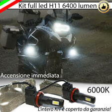 KIT LED BMW GS 1200 LAMPADE H11 FENDINEBBIA CANBUS 6400 LUMEN 6000K NO AVARIA