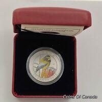 2012 Canada 25 Cent Coloured Coin - Evening Grosbeak w.Box + COA #coinsofcanada