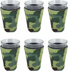 (6, Camo) - Blank Foam Pint Glass Coolie (6, Camo). None. Free Delivery