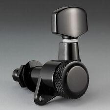 NEW Schaller 6 In-Line LEFTY Left-Handed M6 LOCKING TUNERS BLACK for Strat Tele