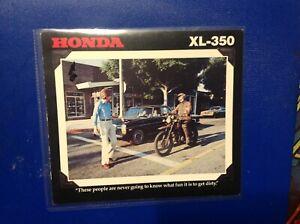 nos Honda xl 350 1978 shop brochure