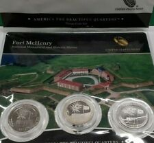 2012 America the Beautiful Quarter 3 Coin Set - Ft. McHenry in OGP